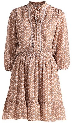 Shoshanna Julianna Blouson-Sleeve Dress