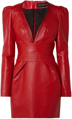 Alexandre Vauthier Leather Mini Dress