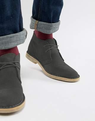 Asos Design DESIGN desert boots in gray suede