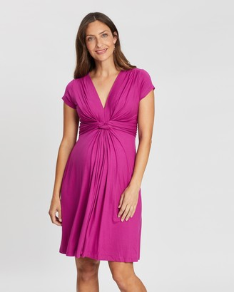 Seraphine Jolene SS Front Knot Dress