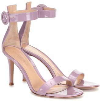 Gianvito Rossi Portofino 85 patent-leather sandals