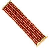 Carolina Bucci 18K Striped Woven Bracelet