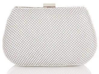Dorothy Perkins Womens *Quiz Silver Diamante Front Box Bag, Silver