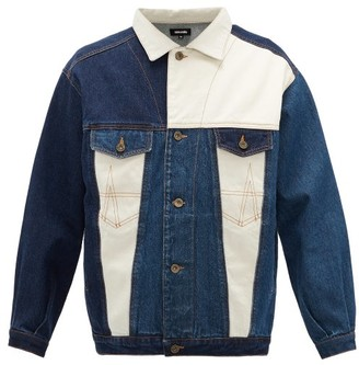 Ahluwalia Panelled Cotton-denim Jacket - Mens - Blue