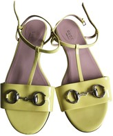 Gucci Yellow Patent leather Sandals