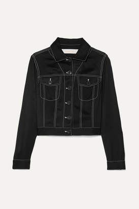See by Chloe Cropped Satin-twill Jacket - Black