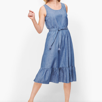 Talbots Denim Flounce Hem Dress