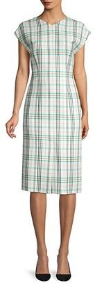 HUGO BOSS Daela Stretch Cotton Sheath Dress
