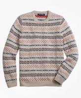 Brooks Brothers Merino Wool Multi Fair Isle Sweater