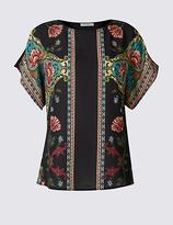 Per Una Foil Mirror Print Short Sleeve T-Shirt