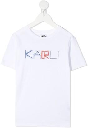Karl Lagerfeld Paris chest logo print cotton T-shirt
