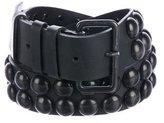 Ann Demeulemeester Stud-Embellished Leather Belt