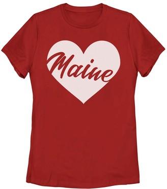 Fifth Sun Juniors' Maine Heart Tee Shirt