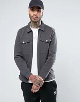 Asos Jersey Harrington Jacket With Patch Pockets