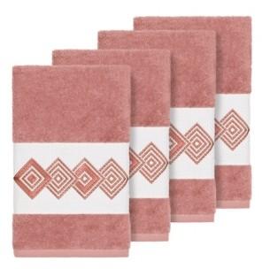 Linum Home Turkish Cotton Noah 4-Pc. Embellished Hand Towel Set Bedding