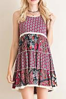 Entro Boho Print Dress