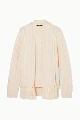 Mother of Pearl Cable-knit Wool-blend Sweater - Ivory