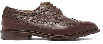 Tricker's Fulton Grained-leather Brogues - Mens - Dark Brown