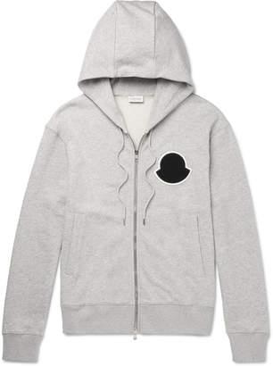 Moncler Melange Loopback Cotton-Jersey Zip-Up Hoodie