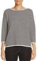 Eileen Fisher Striped Boat Neck Sweater