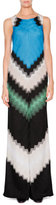 Missoni Sleeveless Wide-Leg Jumpsuit, Green/Black