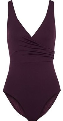 Iris & Ink Clover Wrap-effect Swimsuit