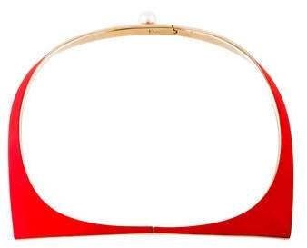 Christian Dior Faux Pearl Gum Tee Shirt Necklace