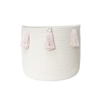 Twig + Tassel Blush Tassel Basket - Medium