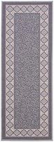 "Diagona Designs Contemporary Moroccan Trellis Design Non-Slip Runner Rug, 26"" W x 72"" L, Grey/Ivory"
