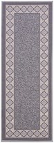 "Diagona Designs Contemporary Moroccan Trellis Design Non-Slip Runner Rug, 31"" W x 118"" L, Grey/Ivory"