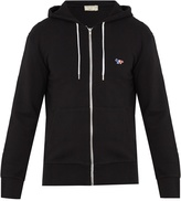 MAISON KITSUNÉ Hooded zip-through cotton sweatshirt