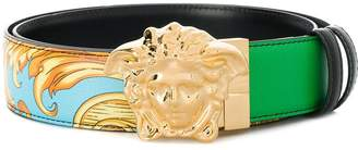 Versace printed Medusa buckle belt