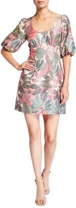 Parker Cammie Leaf-Print Dress
