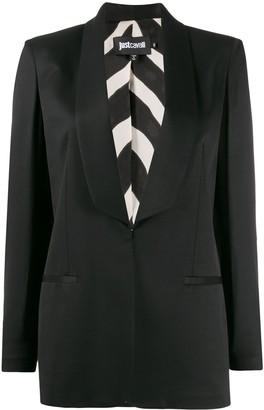 Just Cavalli fitted tuxedo blazer