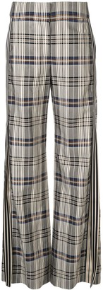 Monse Racing Stripe Vintage Plaid Trousers