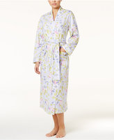 Charter Club Lace-Trimmed Printed Knit Long Robe, Only at Macy's