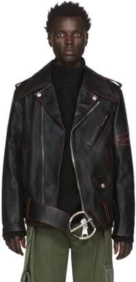 Loewe Black William De Morgan Leather Oversized Biker Jacket