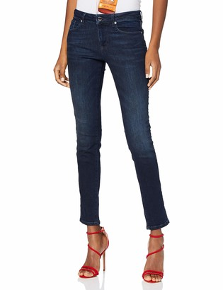 Love Moschino Women's Logo Rhimestone Applications On Back Pocket_Push-fit Denim Trousers Skinny Jeans