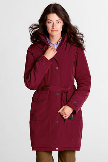 Lands' End Women's Regular Luxe Insulator Coat