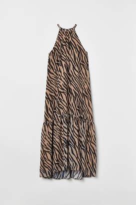 H&M Long dress with a flounce