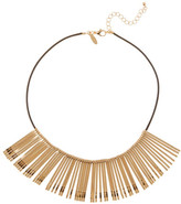 Natasha Accessories Leather Pin Necklace