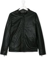 Paolo Pecora Kids Teen faux leather jacket