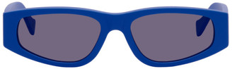 Marcelo Burlon County of Milan Blue Logo Soberano Sunglasses