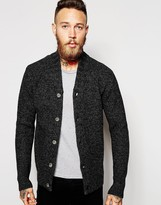 Asos Lambswool Rich High Neck Cardigan