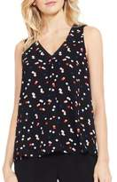 Vince Camuto Dotted Crepe Tank Top