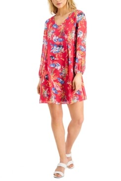 INC International Concepts Inc Floral-Print Tie-Back Mini Dress, Created for Macy's