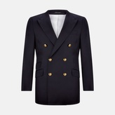 Turnbull & Asser Navy Wool Blazer