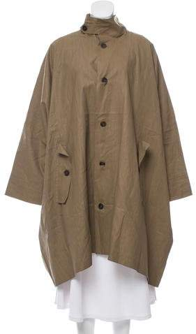 eskandar Coated Linen Raincoat