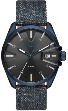 Diesel Men's MS9 Blue Denim Strap Watch 44mm
