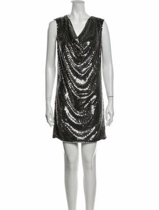 Saint Laurent 2015 Mini Dress Silver